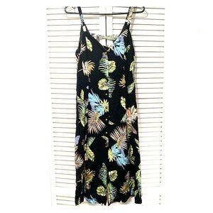 LoveRiche tropical print button up dress